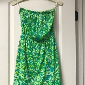 Lilly Pulitzer- NWT Windsor Dress- green parrot
